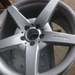 sprayed alloy rim